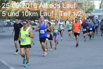 25-09-2016 Alfreds Lauf - 5 und 10km Lauf - 1.Teil