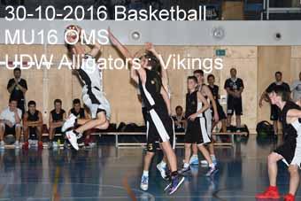 30-10-2016 Basketball - MU16 ÖMS - UDW Alligators : Vikings