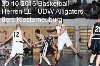30-10-2016 Basketball - Herren Landesliga - UDW Alligators : 6ers Klosterneuburg