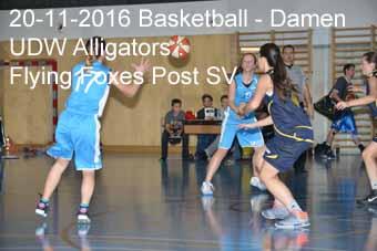 20-11-2016 Basletball - Damen - UDW Alligators : Flying Foxes Post SV