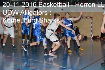 20-11-2016 Basletball - Herren LL - UDW Alligators : Korneuburg Sharks