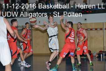 11-12-2016 Basletball - Herren LL - UDW Alligators : St. Pölten