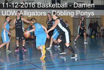 11-12-2016 Basletball - Damen - UDW Alligators : Döbling Ponys