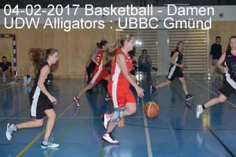 04-02-2017 Basletball - Damen - UDW Alligators : UBBC Gmünd