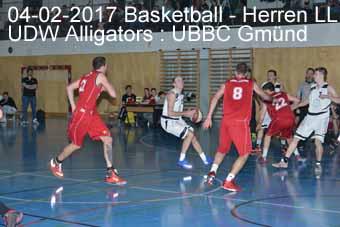 04-02-2017 Basletball - Herren LL - UDW Alligators : UBBC Gmünd