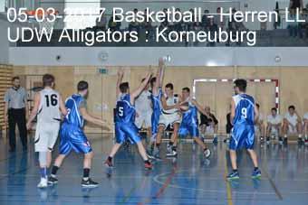 05-03-2017 Basletball - Herren LL - UDW Alligators : Korneuburg