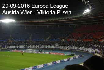 29-09-2016 Europa League - Austria Wien ; Viktoria Pilsen