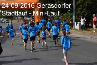 24-09-2016 Gerasdorfer Stadtlauf - Mini-Lauf