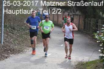 25-03-2017 Matzner Straßenlauf - Hauptlauf - 2.Teil