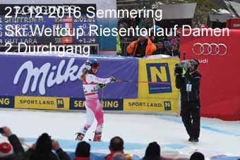 27-12-2016 Semmering - Ski Weltcup Riesentorlauf Damen - 2.Durchgang