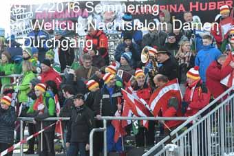 29-12-2016 Semmering - Ski Weltcup Nachtslalom Damen - 1.Durchgang