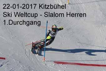 22-01-2017 Kitzbühel - Ski Weltcup Slalom Herren - 1.Durchgang